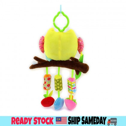 Baby Soft Toys Baby Rattle Toy / Stroller And Cot Hanging Yellow Owl