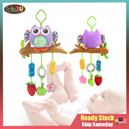 Baby Soft Toys Baby Rattle Toy / Stroller And Cot Hanging Purple Owl
