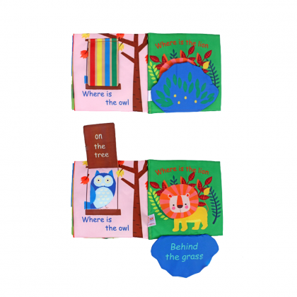 Cloth Book Hide and Seek Baby Early Learning