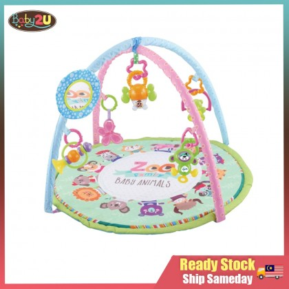 Baby Playgym with Packaging Box Colourful Baby PlayGym Baby Play Mat Crawling Blanket Rattle Toys